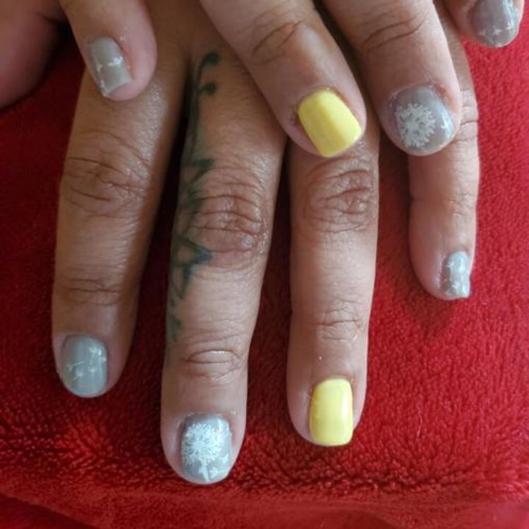 Spring nails with Stamping art