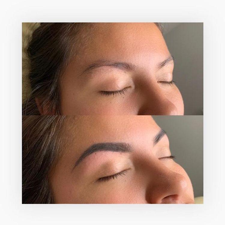 b'Eyebrow wax & fill \xf0\x9f\x92\x99'