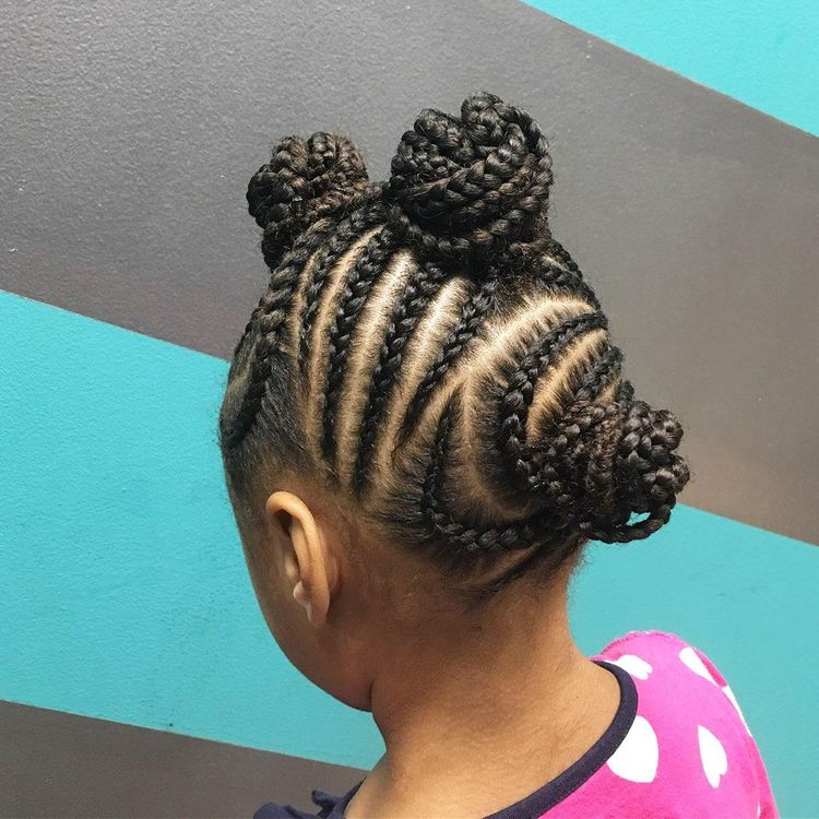 A lil girlie w cornrows (child style- no hair added)