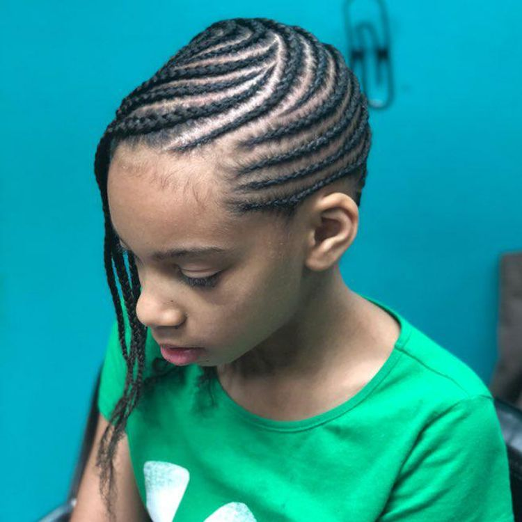 Whipped cornrows (no hair added)