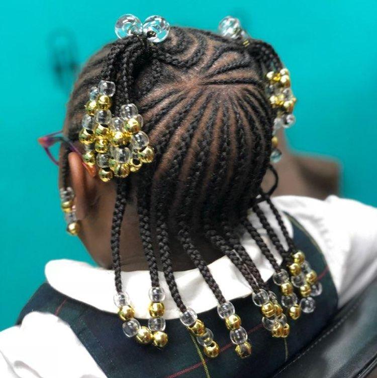 Fine braids w beads