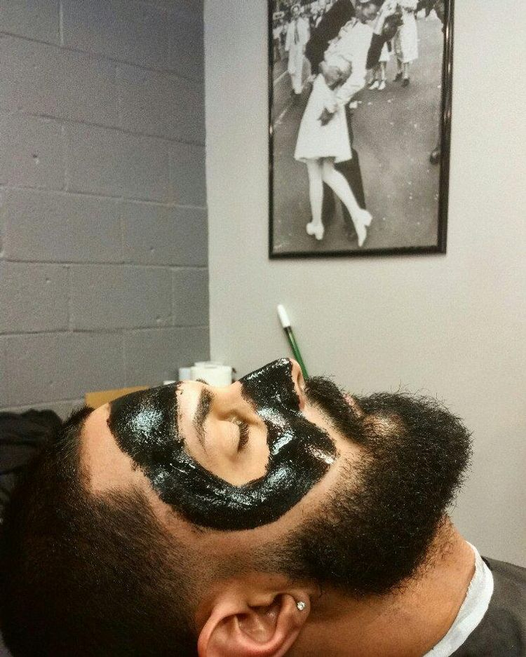Haircut and black mask faicial by Lui