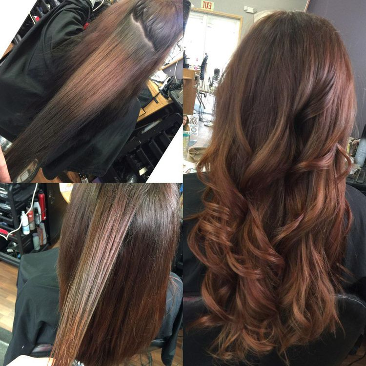Corrective color for the win! She had been using box color black for 7 years and we got her lifted!