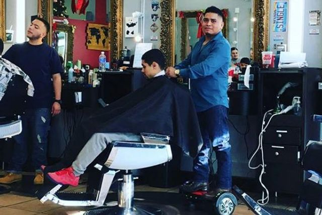 Sergio at VIP Barbershop