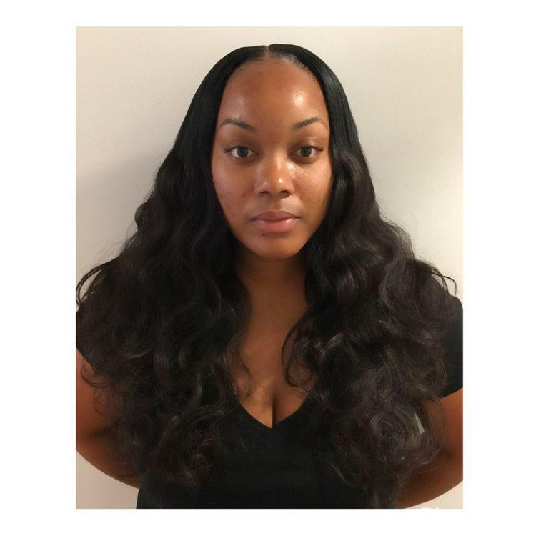 Traditional middle part Sew in with leave out!