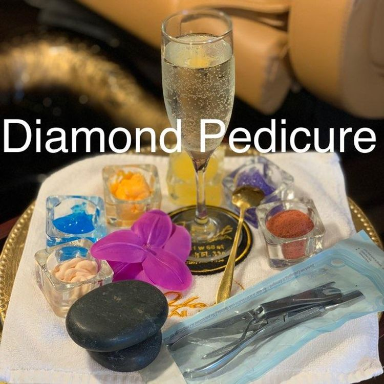 Diamond hot stone pedicure $40
