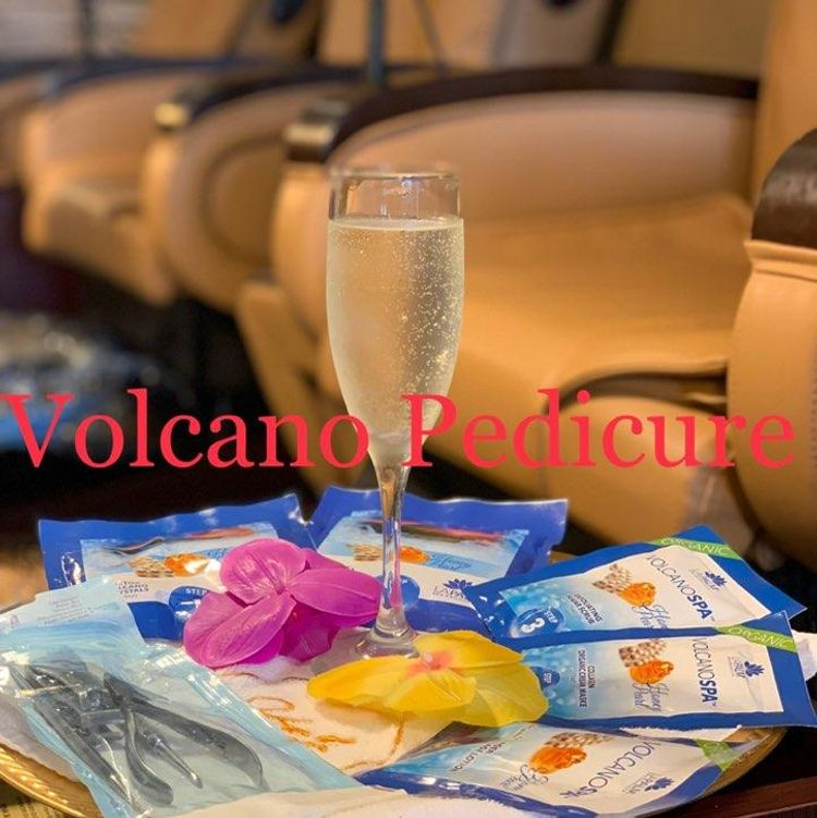 Volcano Hot Stone Pedicure $45(special $40 with combo package)