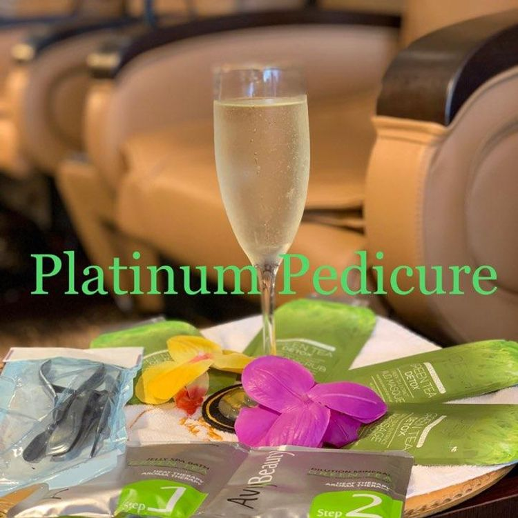 Platinum Hot Stone Pedicure $43 with Jelly $48