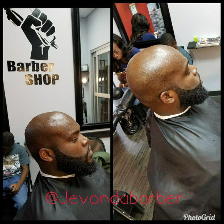 Fresh clean beard...   razor work