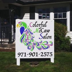 Colorful McCaw Salon, 734 NE Baker St., McMinnville, 97128