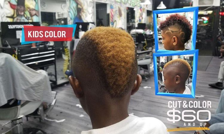 Kids hair color is a big trend and we provide the service at handz of godz grooming spa.