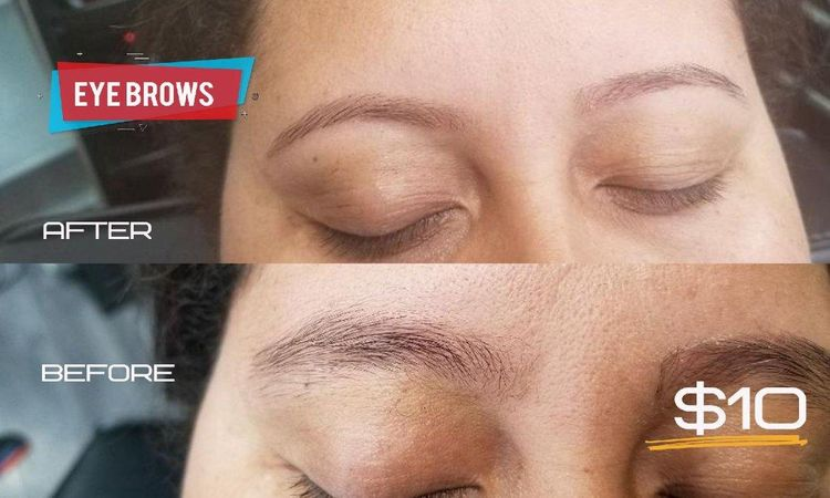 Eyebrows done to precision.