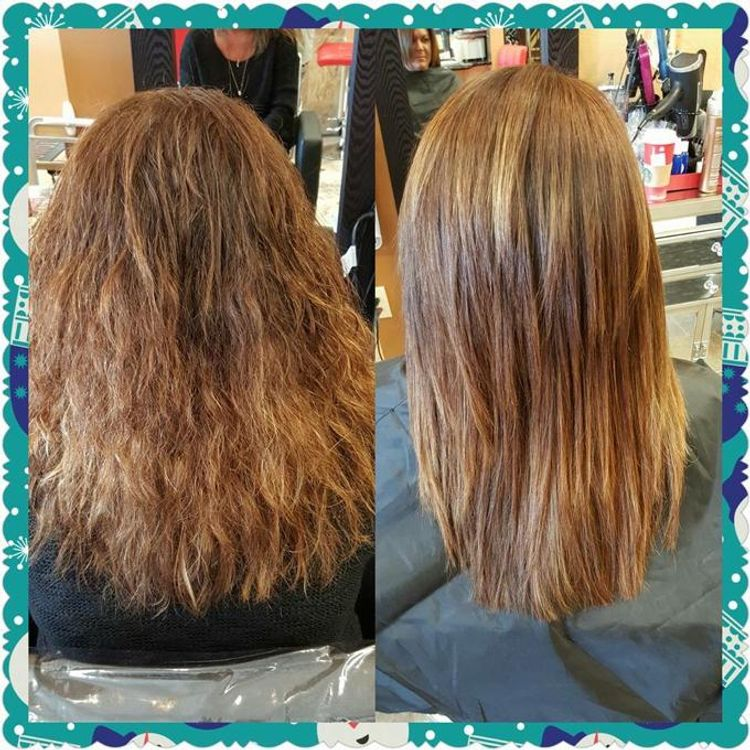 Brazillian Blowout before and after