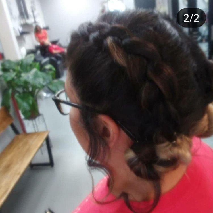 Simple braid style on Mexican hair
